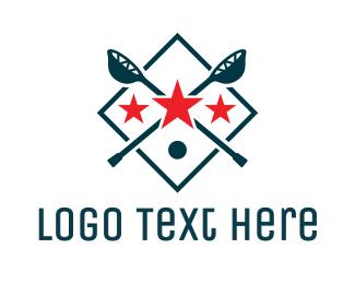 League - Triple Star Lacrosse logo design