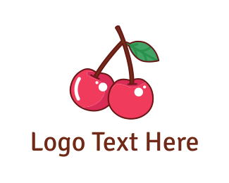 Healthy - Pink Cherries logo design