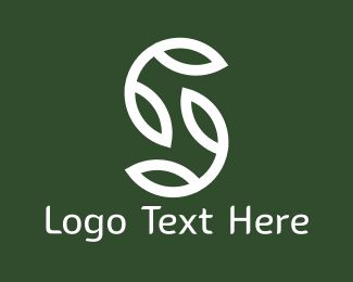 Herbal - White Leaves logo design