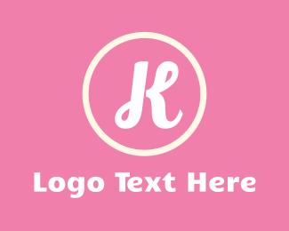Makeup Artist - Feminine Letter K logo design