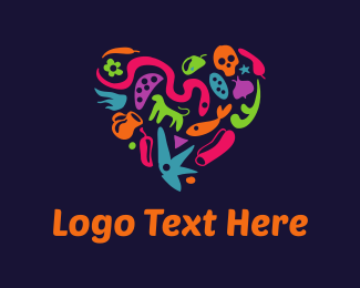 Skull - Mexican Heart logo design