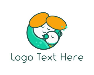 Hug - Mother Hug logo design