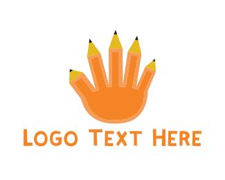 Artist - Pencil Hand logo design