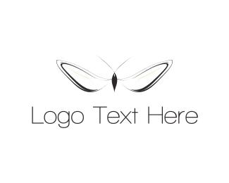 White - White Insect  logo design