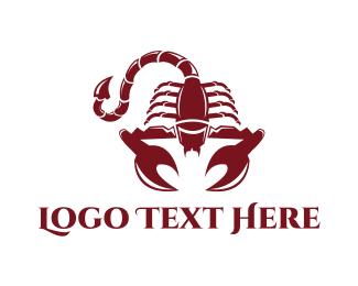 Poison - Red Scorpion logo design