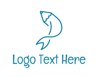 Pen - Fish Pen logo design