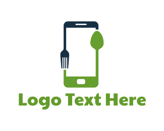 Smartphone - Food Application logo design