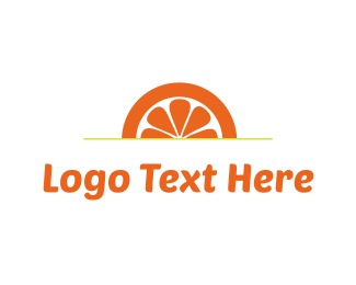 Juice Bar - Orange Sunset logo design