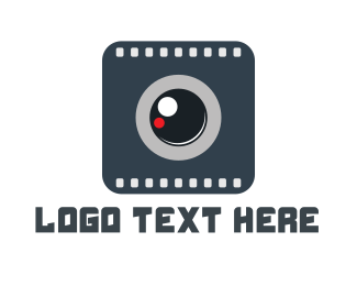 Filmstrip - Grey Camera logo design