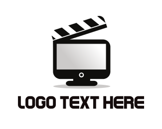 Youtube - Movie Clapboard Screen logo design