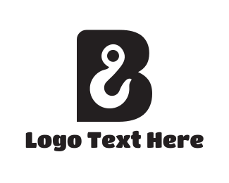 Anchor - Hook Letter B logo design