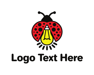 Ladybug - Bug Light logo design