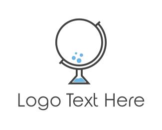 Teacher - Bubble Globe logo design