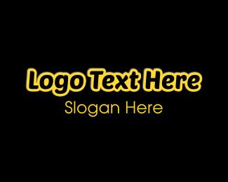 Glow - Black & Yellow logo design