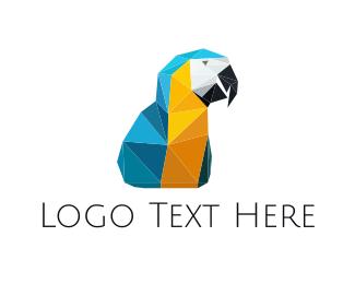 Macaw - Origami Macaw logo design
