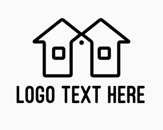Twin House Price Tag Logo
