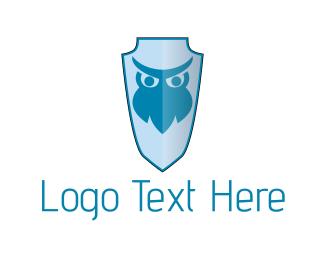 Owl - Owl Shield logo design