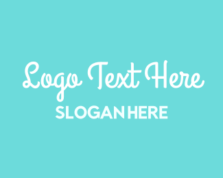 Baby Blue - Ocean Breeze Font logo design
