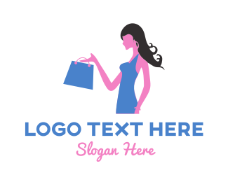 Wix - Shopping Girl logo design