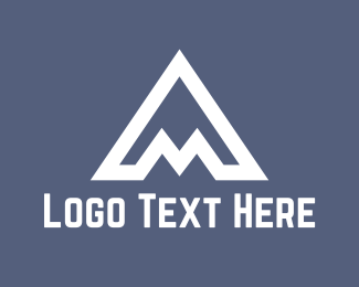 High - White A Mountain logo design