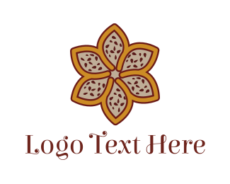 Morocco - Brown Autumn Flower logo design