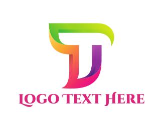 Multicolor - Colorful Letter T logo design