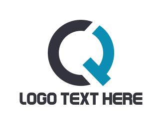 Letter C - C & Q logo design