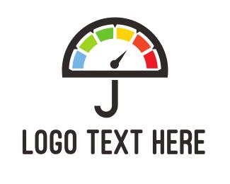 Speedometer - Umbrella Meter logo design
