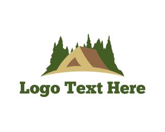 Pine Tree - Brown Tent logo design