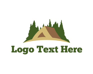 Pine - Brown Tent logo design