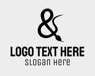 Overlap - Snake Ampersand logo design
