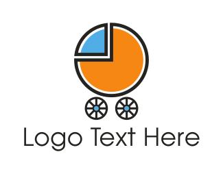 Cart - Baby Chart logo design