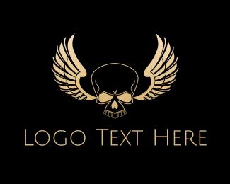 Skull Wings Logo Maker
