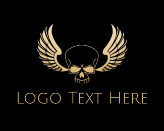 Wings - Skull Wings logo design