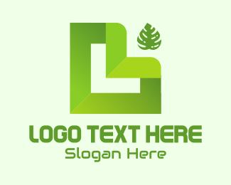Abstract Letter L logo design