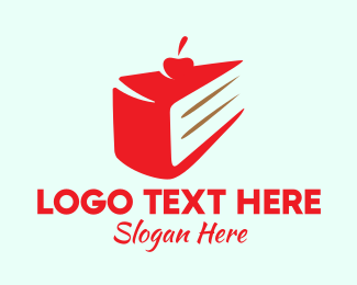 Vanilla - Red Cherry Cake  logo design
