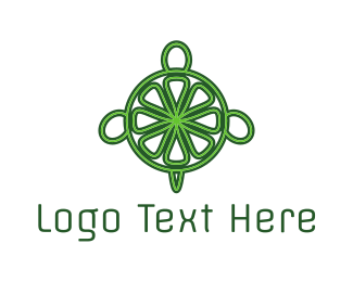 Lemonade - Green Lime Turtle logo design