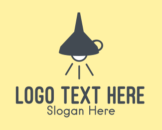 Bright - Funnel Lamp logo design