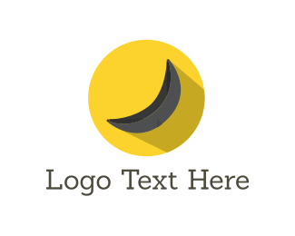 Banana - Black Yellow Banana logo design