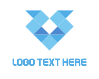 Minimalist - Diamond Origami logo design