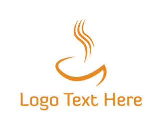 Soup - Orange Hot Drink logo design
