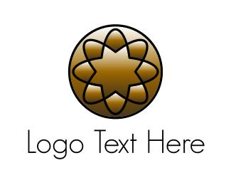 Spa - Golden Flower logo design