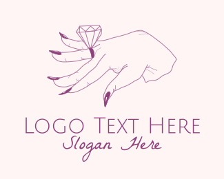 Wedding - Diamond Ring logo design