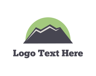 Hiking - Green Mountain  logo design