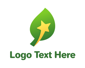 Shooting - Yellow Star Leaf logo design