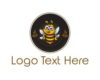 Emblem - Bee Circle Emblem logo design