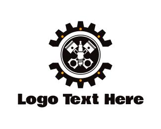Motor - Piston Wheel logo design