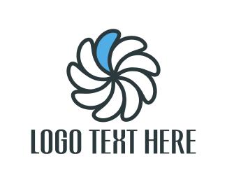 Mill - Blue Petal logo design