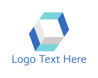 Hexagonal - Blue Hexagon logo design