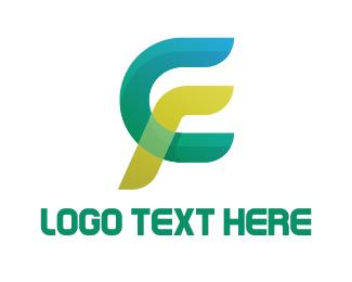 Racing - Modern C & F logo design